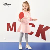 迪士尼童装2020春季新款女童卫衣套装宝宝长袖上衣裙裤休闲两件套