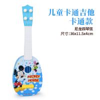 儿童小吉他玩具可弹奏中号尤克里里初学者乐器琴音乐送拨片c