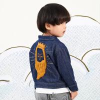 【6折价:269.46元】马拉丁童装男小童外套春装2020年新款休闲丹宁风牛仔外套夹克