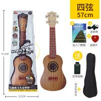 尤克里里乐器初学者小孩音乐男孩儿童吉他玩具可弹奏迷你21寸女孩c DF81618+调音器 送背带教程背包