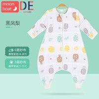 婴儿睡袋宝宝春秋薄款纱布分腿儿童新生儿防踢被神器四季通用