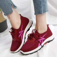 春季新款老北京布鞋女鞋学生鞋运动跑步鞋系带休闲鞋软底 红色 35