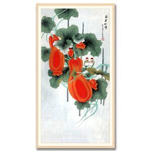 中国美协会员、北京工笔重彩画会会员 耿玉轩《春华秋实》DYP44