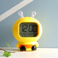 学生创意儿童闹钟卧室床头多功能卡通可爱蜜蜂时钟智能数字电子钟