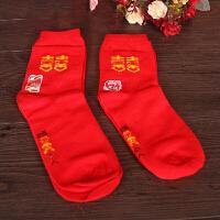 红色纯棉女袜/男袜红袜子 本命年 婚庆用品 福袜 喜庆袜 踩小人