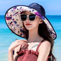 沙滩帽女夏海边度假遮脸韩版大沿可折叠太阳帽防晒凉帽子