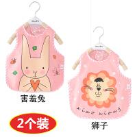 宝宝吃饭罩衣防水儿童卡通印花围裙薄款小孩围衣婴儿无袖围兜夏季