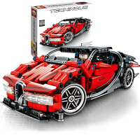 兼容乐高兰博基尼跑车立体模型积木儿童拼插汽车组装回力赛车男孩拼装玩具礼物