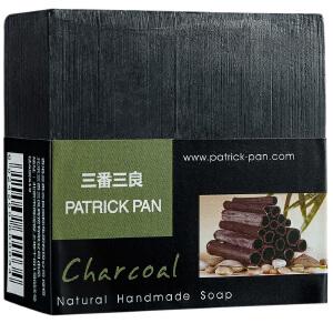 [当当自营]三番三良PATRICK PAN 竹炭手工洁面皂-100g 深层清洁毛孔 控油去黑头 温和细腻不伤肤 滋润保湿不紧绷