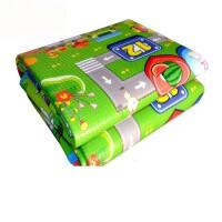 宝宝爬行垫加厚可折叠婴儿童爬爬垫泡沫地垫超大号游戏毯客厅家用 1厘米 双面水果字母+城堡