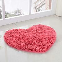 新房装饰摆设门口地垫地毯门垫 婚庆结婚用品 婚房布置心形绒脚垫