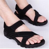 凉鞋新款夏季男士沙滩鞋越南大码皮凉鞋户外运动男凉拖