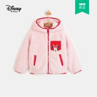 618【2件4折:71.6元】迪士女童冬季加绒连帽外套2020儿童宝宝时尚洋气卡通上衣潮