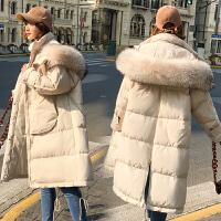 怀孕期棉袄潮 孕妇棉衣女中长款冬装外套2018新款韩版宽松羽绒