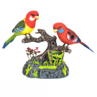 玩具鸟 仿真声控小鸟电动感应鹦鹉会叫会动会说话宠物鸟笼儿童玩具