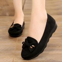 老北京布鞋女新款软底平跟女士工作上班酒店服务员鞋子黑色滑鞋