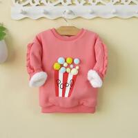 0一岁女宝宝冬装两三岁女童装加绒卫衣厚3婴幼儿服装冬季1潮4