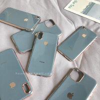 奶奶灰适用于苹果X手机壳苹果11保护套7plus高档6s新款电镀iPhoneXsMax原装8p全包iphone11pro