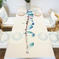 桌布餐桌布艺茶几桌布盖布厚实防烫白长方形定制做 归鸟纯白色桌布1块