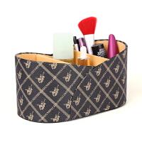 创意POLO纹皮革化妆品收纳盒 家用客厅茶几桌面遥控器盒卧室手机座抖音 POLO纹(单个装)