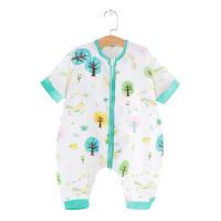 婴儿睡袋夏季薄款宝宝睡觉防踢被纱布分腿睡衣儿童空调房透气被子
