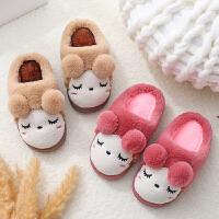 儿童棉拖鞋女童冬男童小孩宝宝居家保暖厚底包跟防滑亲子拖鞋
