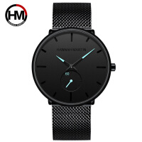 男士防水手表 不锈钢网带索尼电子小表盘石英手表