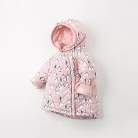 【夹棉】davebella戴维贝拉童装冬季新款女童棉服宝宝棉衣DB12414