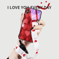 苹果x手机壳iphonexr玻璃xsmax女iphone11pro红色6splus网红8plus潮牌11promax爱