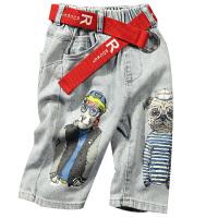 童装男童牛仔裤五分裤夏装薄款短裤儿童夏季中裤