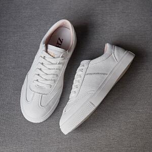 ZHR2019春季新款韩版基础小白鞋平底板鞋网红休闲鞋单鞋学生女鞋