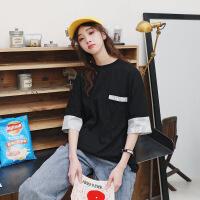 不一样的情侣装夏装短袖t恤女2019新款潮港味韩版宽松学生半袖