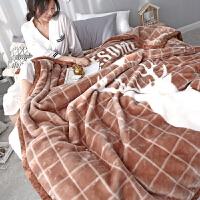 毛毯双层加厚珊瑚绒毯子单人双人冬季盖毯婚庆*绒毯被子