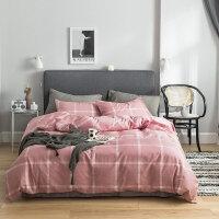 床上四件套棉被套床单三件套1.8m床简宿舍双人单人男k