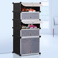 蜗家简易鞋柜防尘鞋架组装组合多层树脂简约现代大容量
