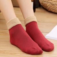 冬季袜子女中筒加厚加绒保暖御寒防冻脚睡眠毛圈月子孕妇松口长袜