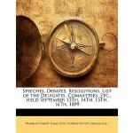 【预订】Speeches, Debates, Resolutions, List of the Delegates,