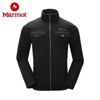 Marmot/土拨鼠秋冬新款户外防风开衫磨毛抓绒衣
