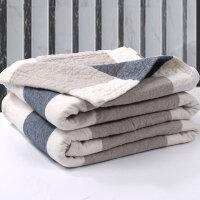 毛巾被毯棉加厚纱布水洗棉单人双人床单可铺可盖y