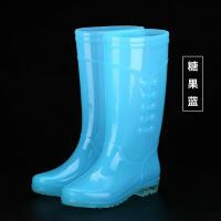 雨鞋女透明糖果时尚妨水胶鞋女雨靴高筒妨水时尚水鞋水靴