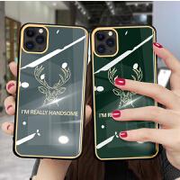 iPhone11pro max手机壳网红苹果x简约硅胶xsmax全包创意玻璃壳xr保护套个性情侣8plus手机壳6/7