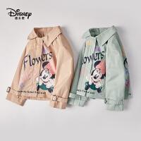 迪士尼米奇米妮大衣风衣春款女童