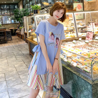头像印花孕妇连衣裙夏季新品孕妇装韩版中长款裙子大码女装M-3239