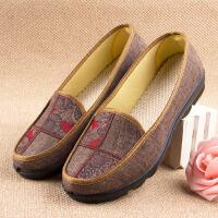 老北京布鞋女软底 妈妈鞋春款-50岁平底老人鞋滑中老年春秋鞋