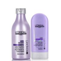 L'OREAL/欧莱雅 顺柔润泽洗发水250ml+护发素150ml洗护套装 进口专业洗护 秀发柔顺易打理
