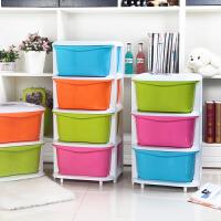 彩色收纳柜塑料整理柜抽屉柜抽屉式收纳柜储物柜密封塑料柜