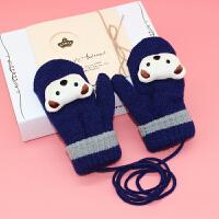儿童手套冬季宝宝手套男童女童加厚加绒保暖小孩手套儿童学生