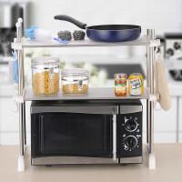 双层微波炉架置物架烤箱架子厨房置物架收纳架锅架不锈钢置物架收纳架瓶罐架1959