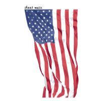 【预订】sheet music: 7x10 USA American Flag notebook, Music Man