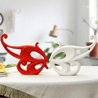 客厅装饰品摆件创意家居酒柜工艺品摆设现代简约电视柜桌面陶瓷